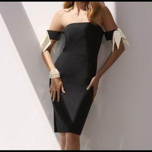 Boston proper Bow Sleeve strapless dress